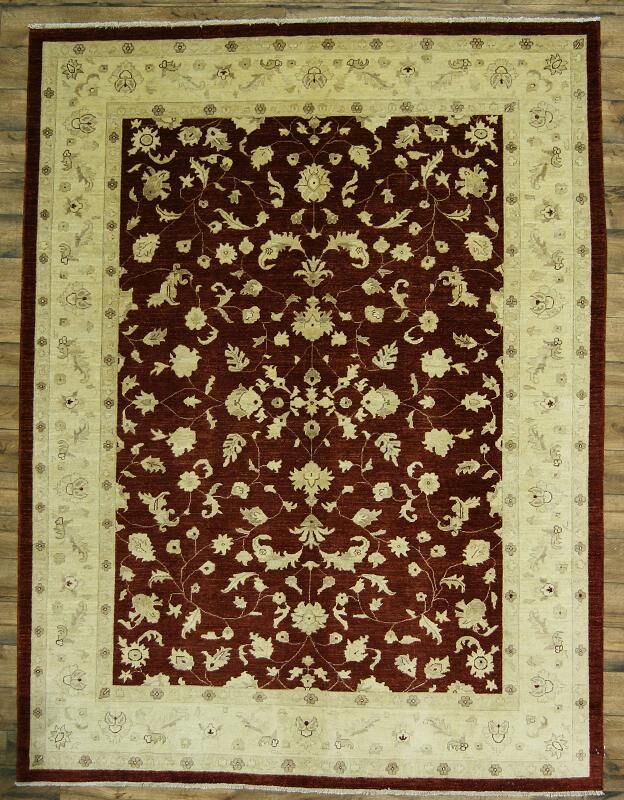 One-of-a-Kind Bovill Peshawar Oriental Hand-Knotted Wool Red/Ivory Area Rug