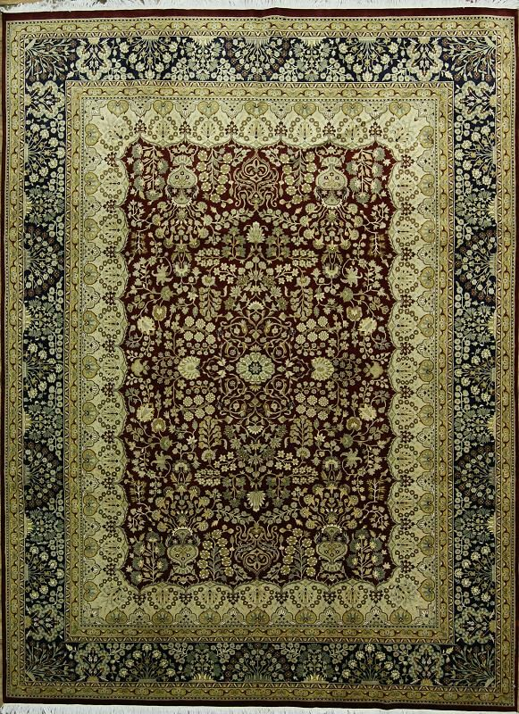 One-of-a-Kind Pugh Oriental Hand-Knotted Wool Red/Brown Area Rug