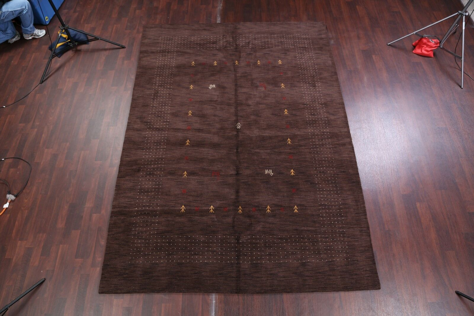 One-of-a-Kind Seidman Oriental Hand-Knotted Wool Brown Area Rug