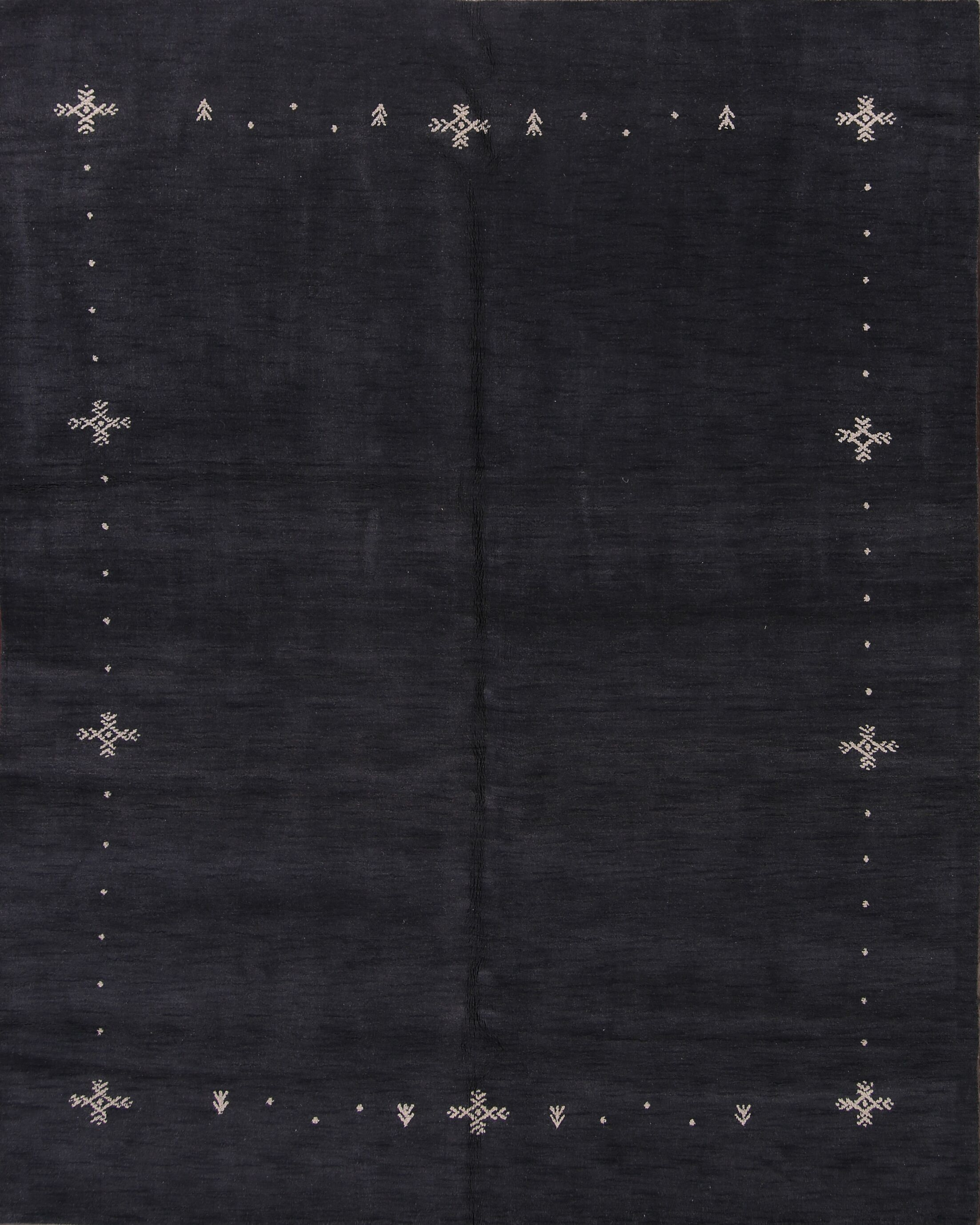 One-of-a-Kind Seidman Oriental Hand-Woven Wool Black Area Rug