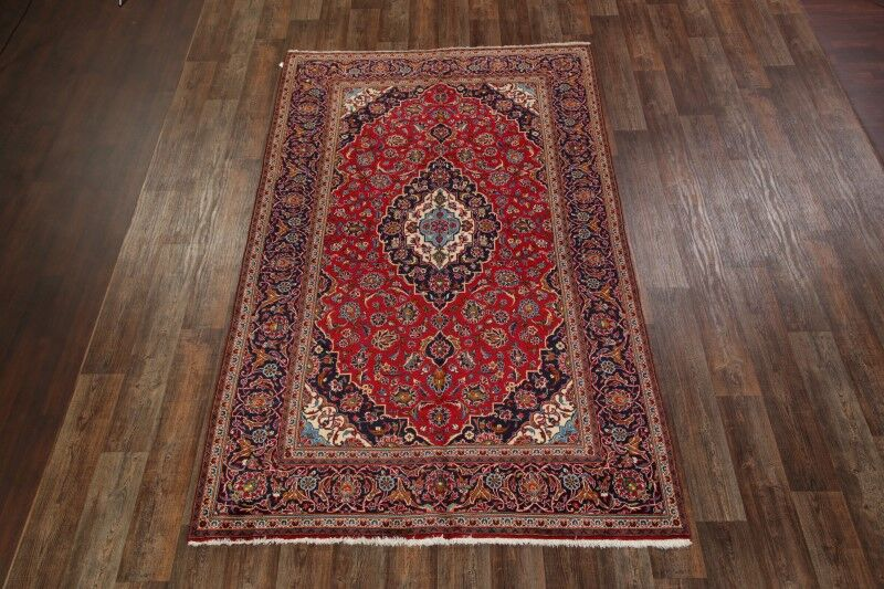 One-of-a-Kind Nicollet Kashan Persian Hand-Knotted 6'5