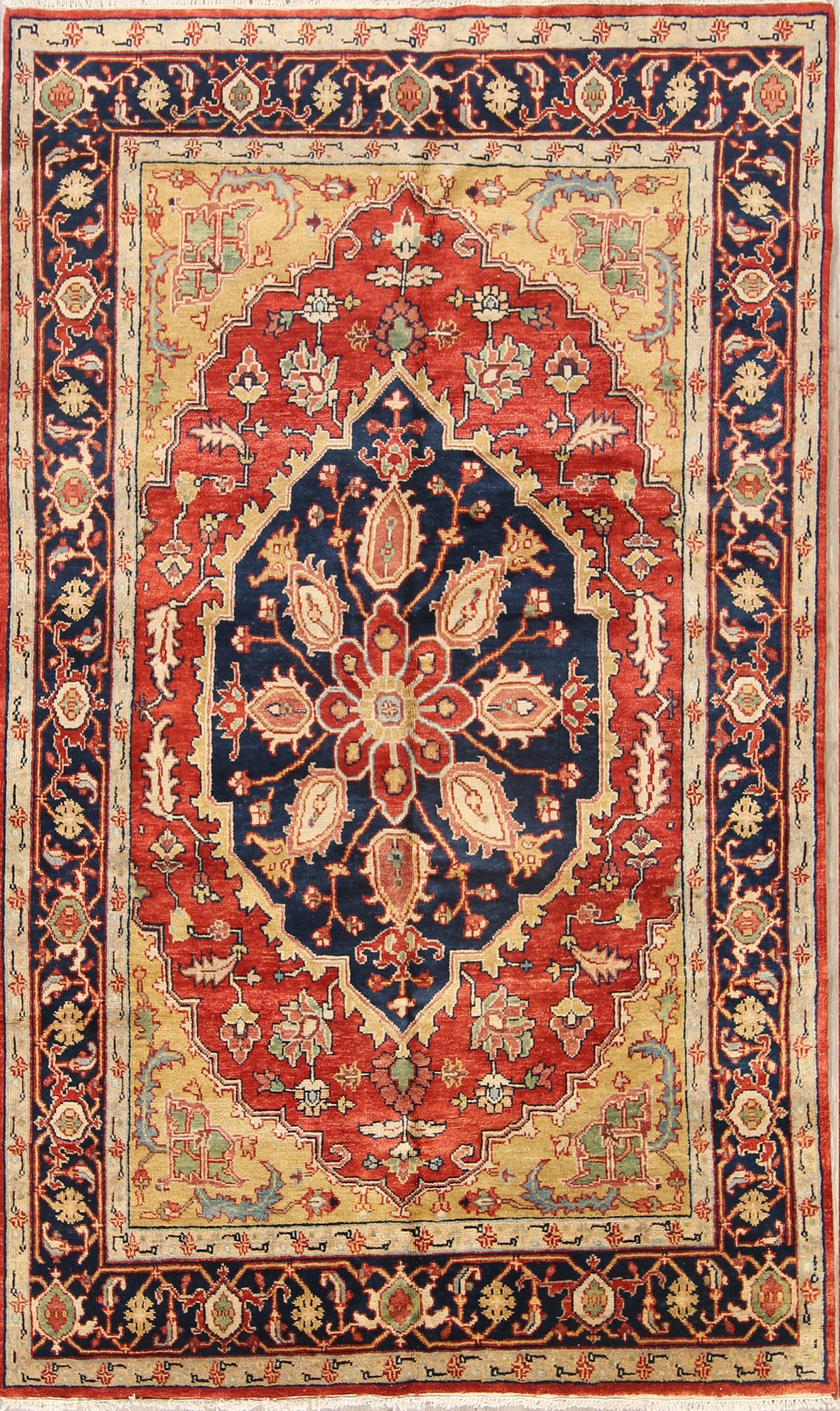 One-of-a-Kind Purvis Oriental Hand-Knotted Wool Red/Burgundy Area Rug
