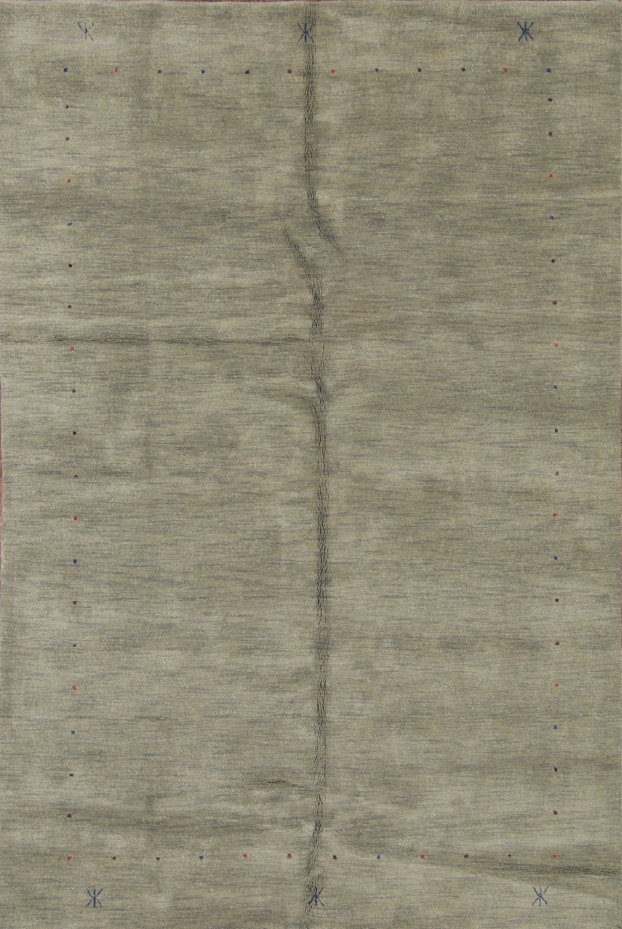 Fortune Oriental Area Hand-Woven Wool Gray Area Rug