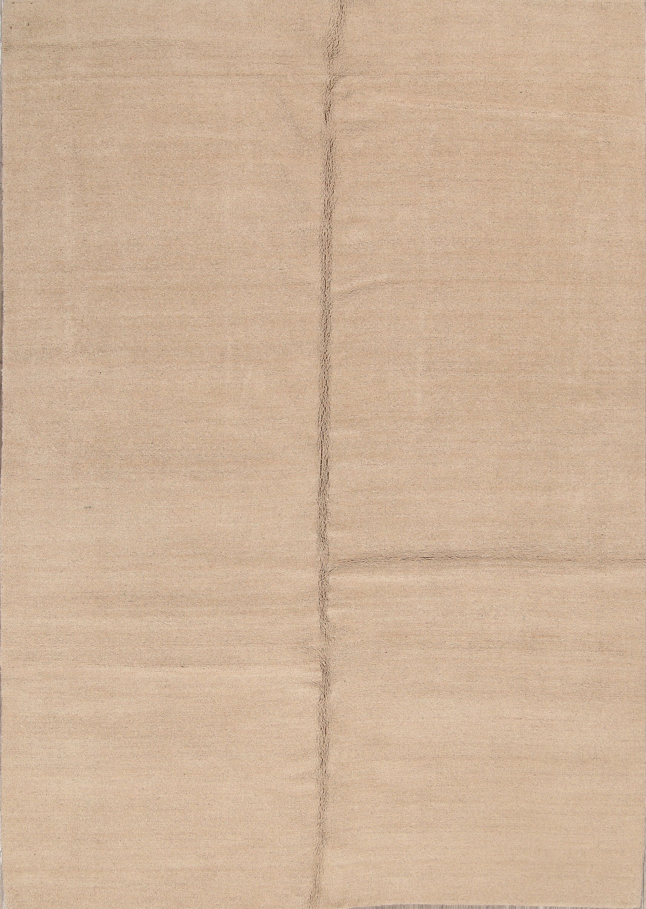 One-of-a-Kind Fortune Oriental Hand-Knotted Wool Beige/Ivory Area Rug