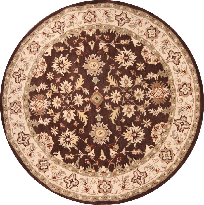 Bovill Agra Oriental Hand-Tufted Wool Beige Area Rug