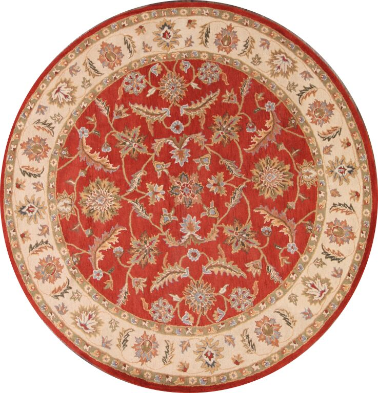 Bovill Agra Oriental Hand-Tufted Wool Red Area Rug