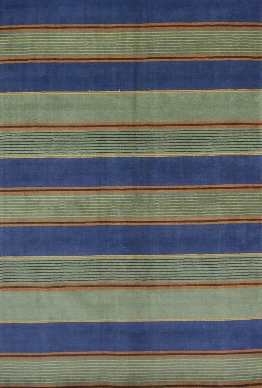 Seidman Oriental Hand-Tufted Wool Blue/Green Area Rug
