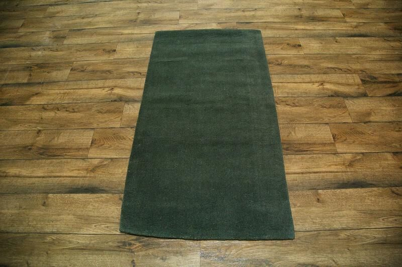 Fortune Oriental Hand-Tufted Wool Green Area Rug