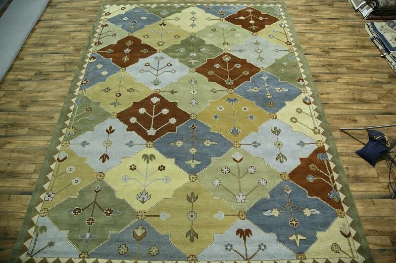 One-of-a-Kind Bovill Bakhtiari Oriental Hand-Tufted Wool Green/Blue Area Rug