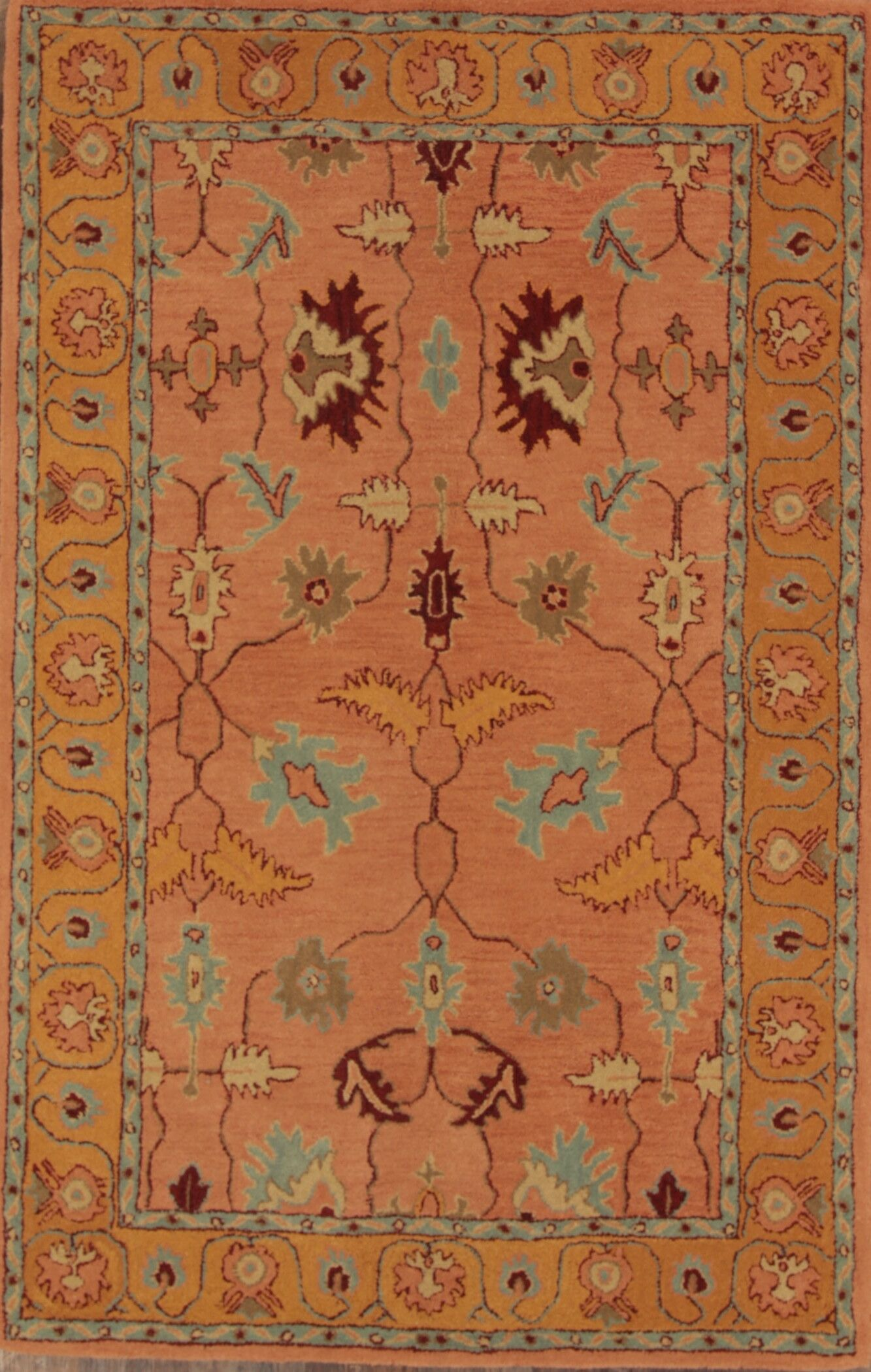 Bovill Agra Oriental Hand-Tufted Wool Beige Area Rug