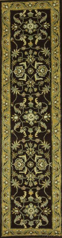 Bovill Oriental Hand-Tufted Wool Navy/Beige Area Rug