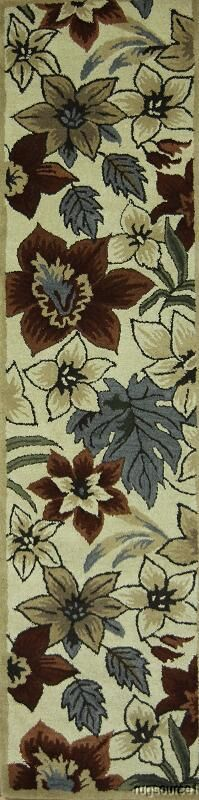 Bovill Oriental Hand-Tufted Wool Brown/Ivory Area Rug
