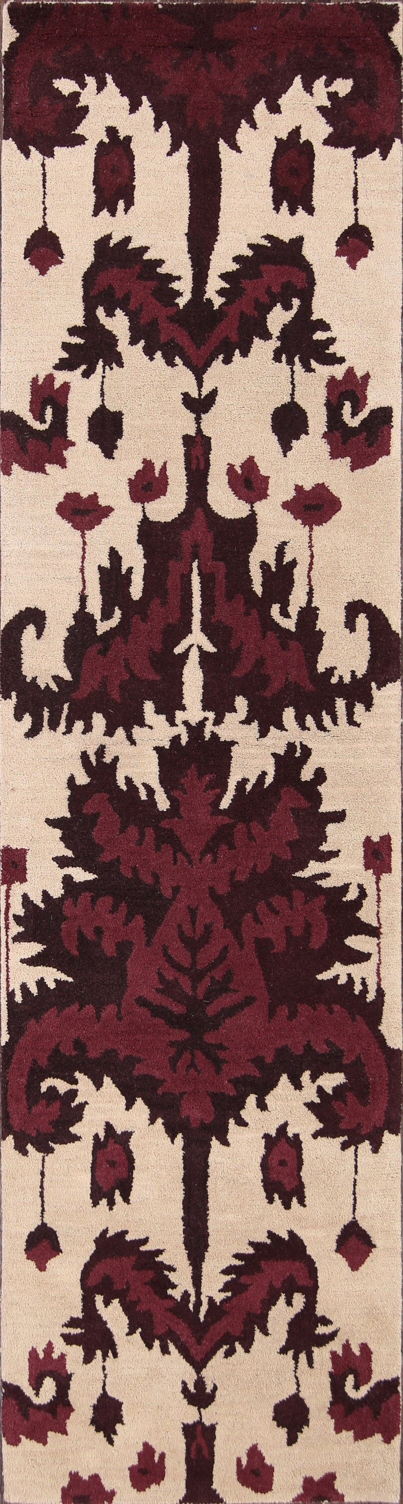 Bovill Agra Oriental Hand-Tufted Wool Red/Beige Area Rug