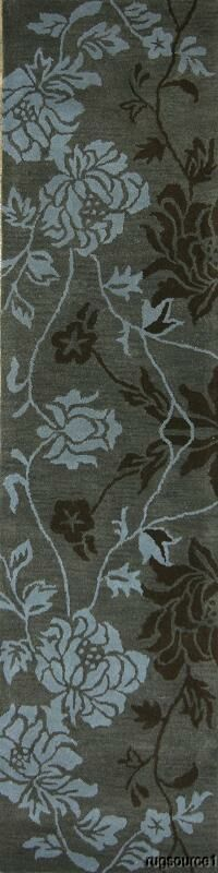 Bovill Gabbeh Oriental Hand-Tufted Wool Gray/Brown Area Rug