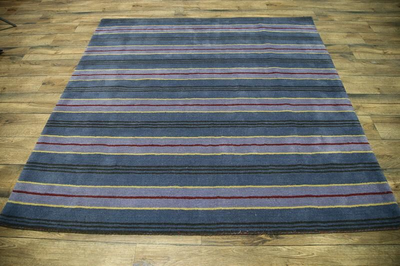 Seidman Oriental Hand-Tufted Wool Blue/Purple Area Rug Rug Size: Square 6'5