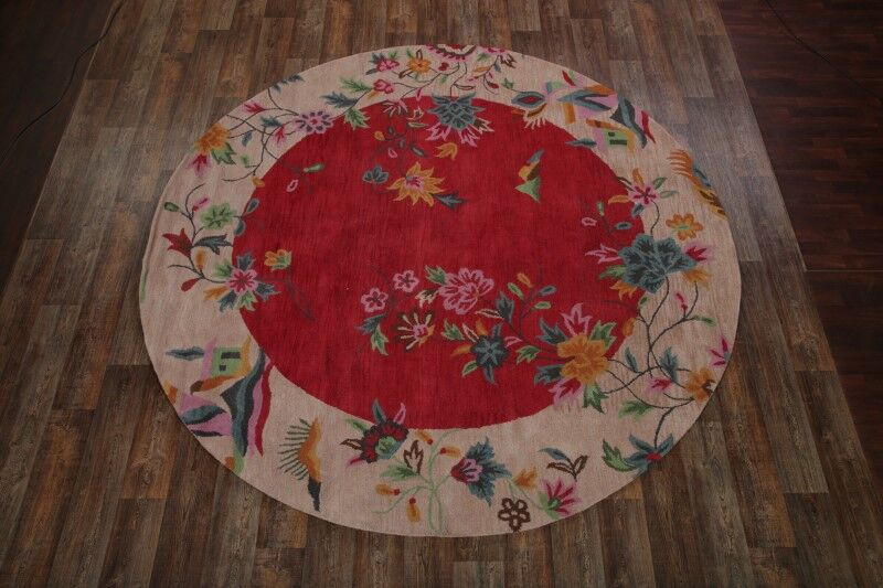 Faith Oriental Hand-Tufted Wool Red Area Rug