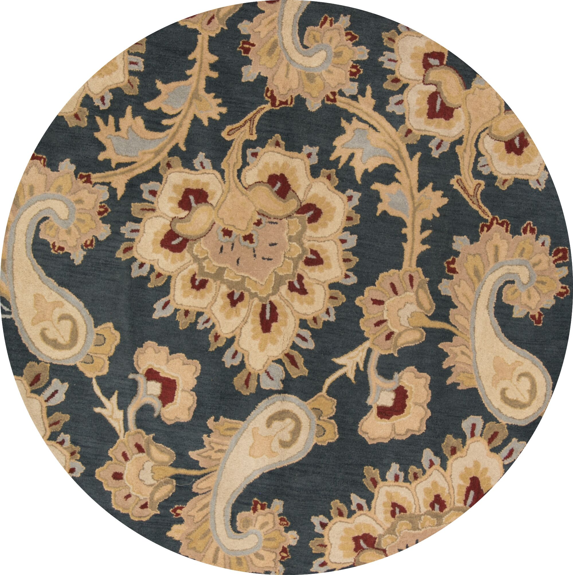 Bovill Agra Hand-Tufted Wool Brown/Green Area Rug