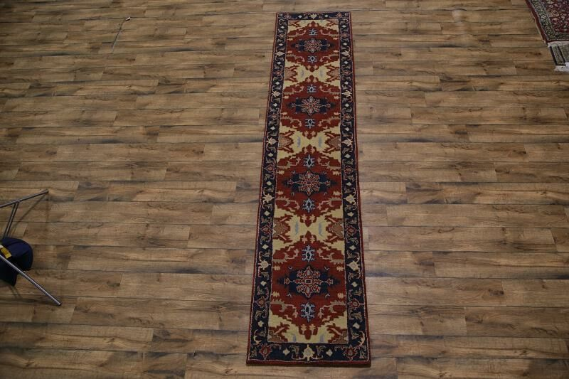 Purvis Hand-Tufted Wool Red/Beige Area Rug