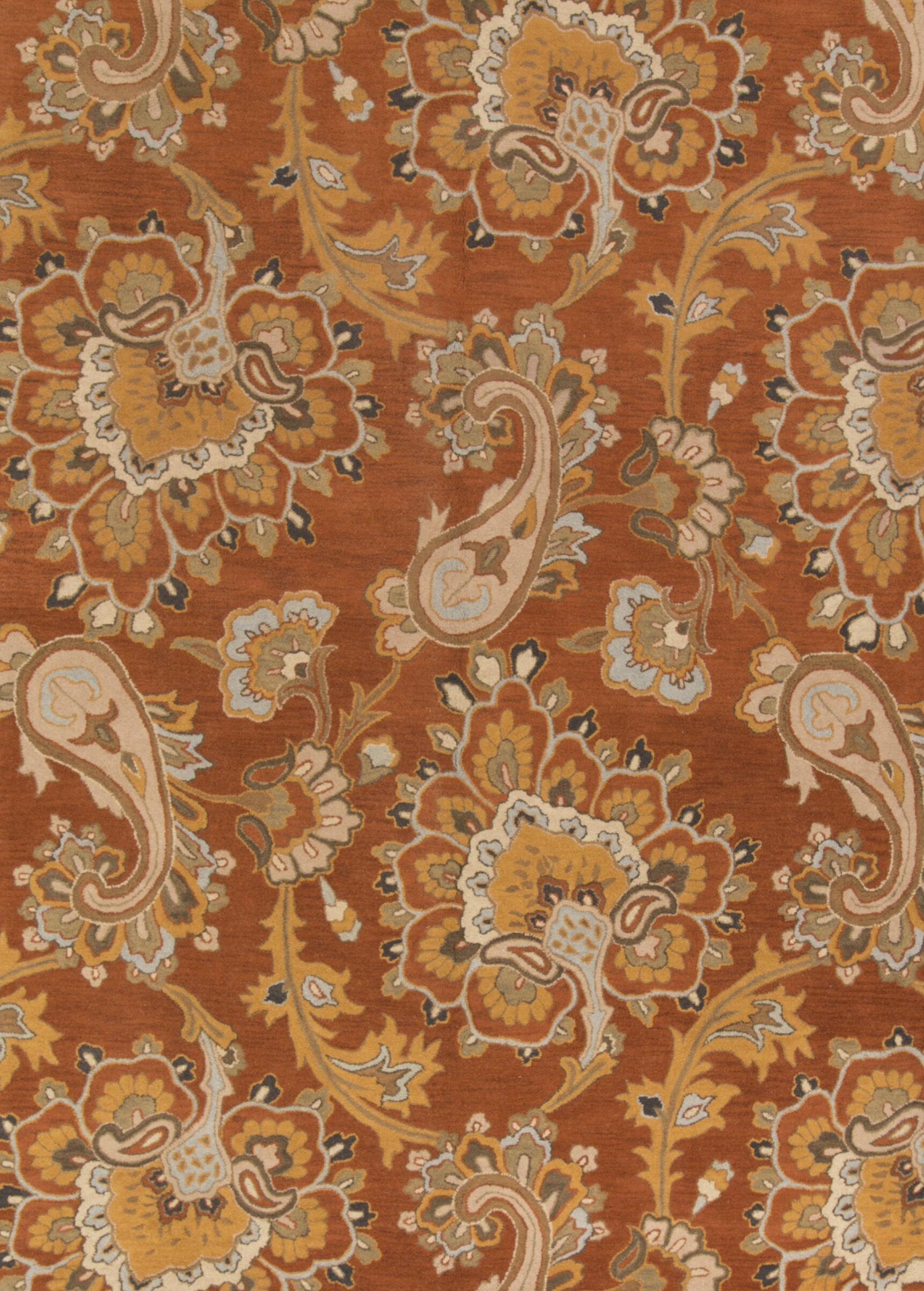 Miranda Agra Oriental Hand-Tufted Wool Orange/Rust Area Rug