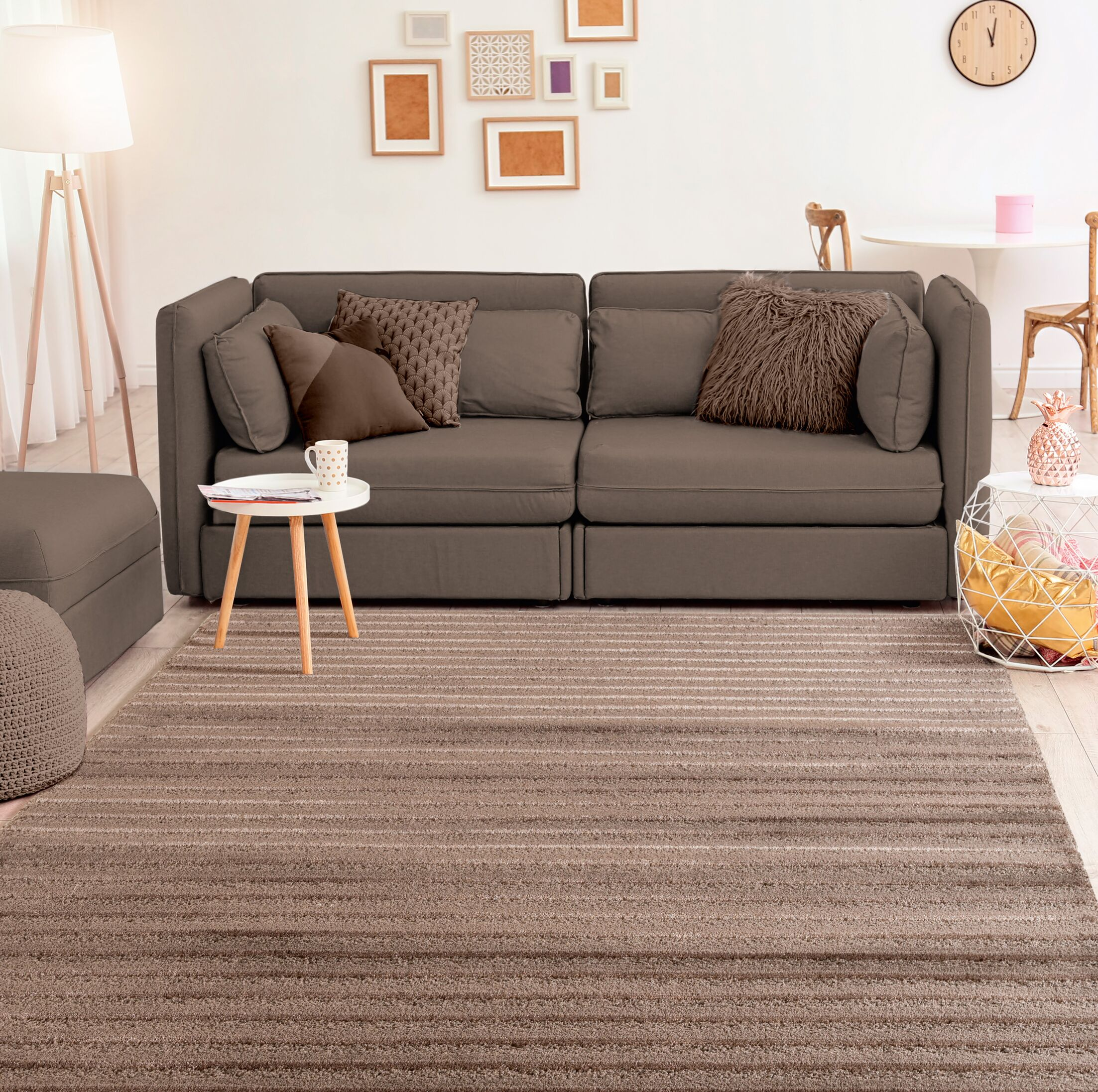 Ospina Accent Brown Area Rug Rug Size: Rectangle 1'10