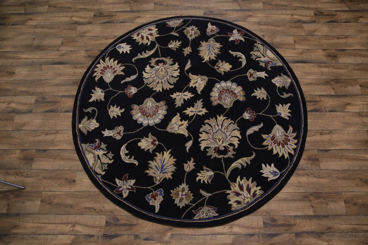 Bovill Agra Oriental Hand-Tufted Wool Black Area Rug