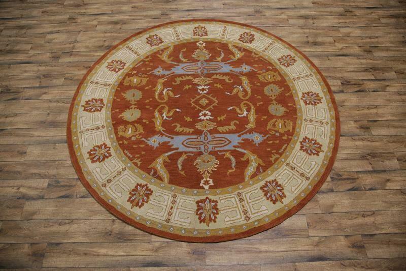 Bovill Agra Oriental Hand-Tufted Wool Orange/Rust Area Rug