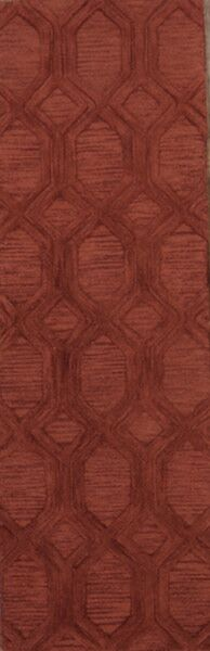 One-of-a-Kind Bovill Agra Oriental Hand-Tufted Wool Burgundy Area Rug