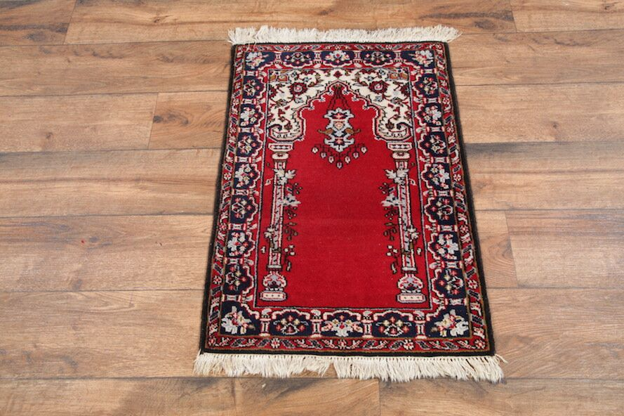 One-of-a-Kind Keensburg Turkish Oriental Hand-Knotted Wool Red Area Rug