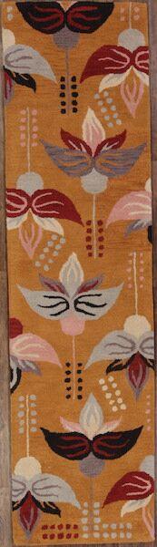 Melissa Oushak Oriental Hand-Tufted Wool Orange/Rust Area Rug