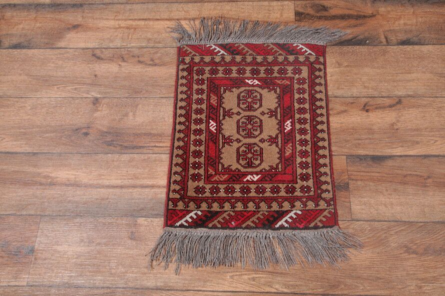 One-of-a-Kind Putnam Afghan Oriental Hand-Knotted Wool Red/Burgundy Area Rug