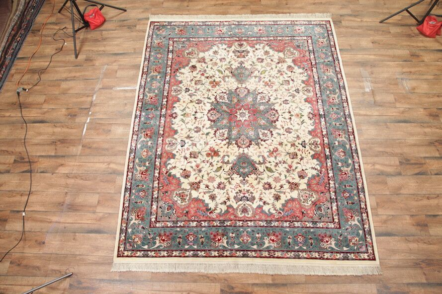 One-of-a-Kind Miranda Oriental Hand-Knotted Red/Beige Area Rug