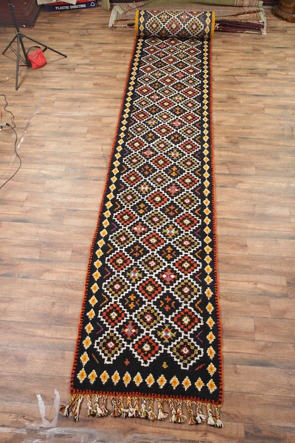 One-of-a-Kind Lam Oriental Hand-Knotted Wool Black/Red Area Rug
