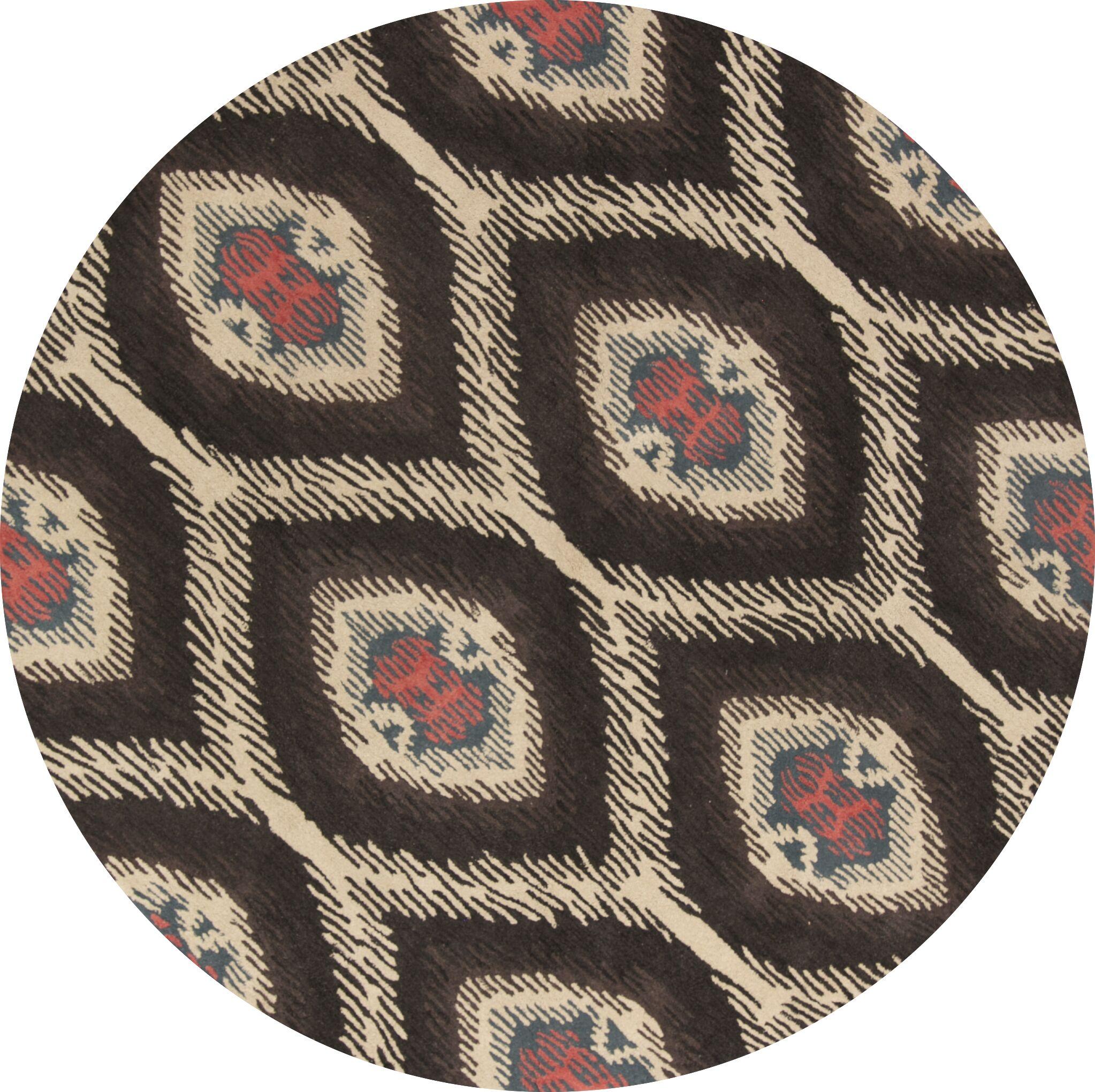 Bovill Agra Oriental Hand-Tufted Wool Black/Beige Area Rug