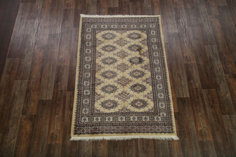 One-of-a-Kind Adriel Hand-Knotted Wool Beige/Brown Area Rug