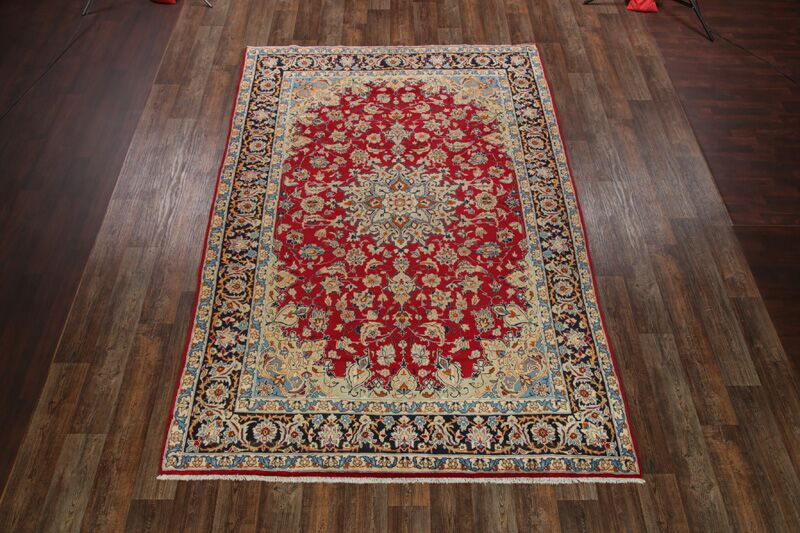 One-of-a-Kind Najafabad Traditional Isfahan Persian Hand-Knotted 7'10