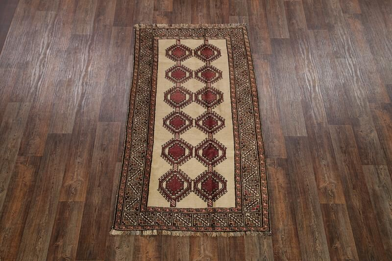One-of-a-Kind Gabbeh Modern Shiraz Persian Hand-Knotted 3'10