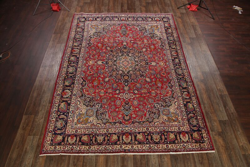 One-of-a-Kind Mcbryde Traditional Mashad Persian Hand-Knotted 9'6