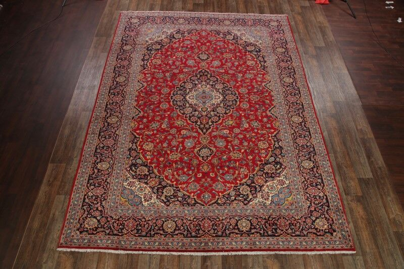 One-of-a-Kind Elrod Kashan Traditional Persian Hand-Knotted 9'10