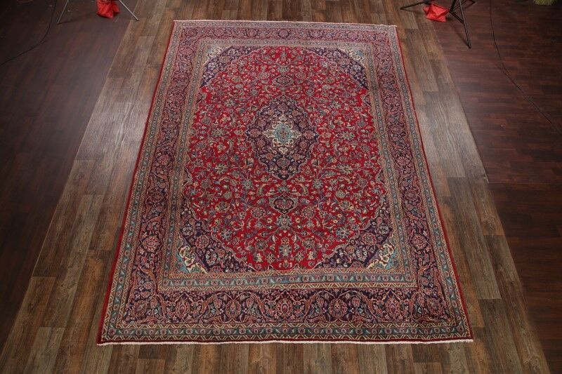 One-of-a-Kind Giddings Mashad Persian Hand-Knotted 9'4