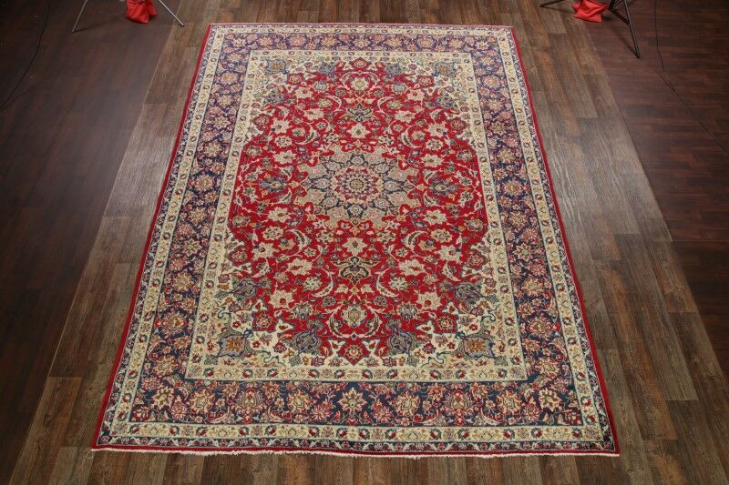 One-of-a-Kind Mojica Traditional Najafabad Isfahan Persian Hand-Knotted 9'6