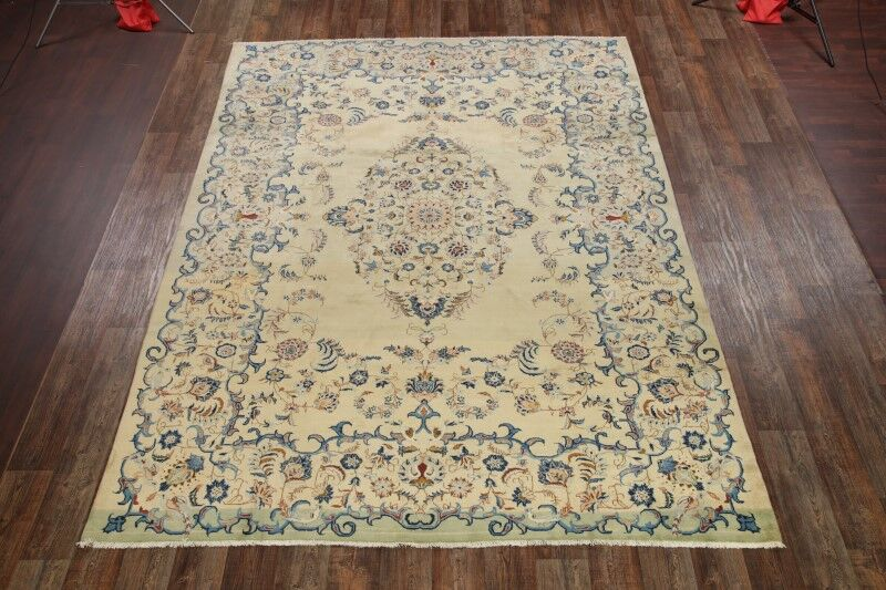 One-of-a-Kind Numbers Isfahan Persian Hand-Knotted 9' x 12'7