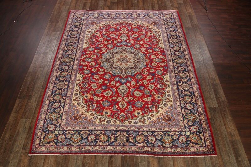 One-of-a-Kind Gilcrease Traditional Najafabad Isfahan Persian Hand-Knotted 10'1