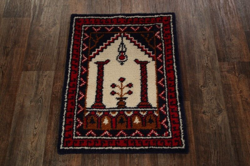 One-of-a-Kind Quintana Oriental Hand-Knotted Wool Red/Ivory Area Rug