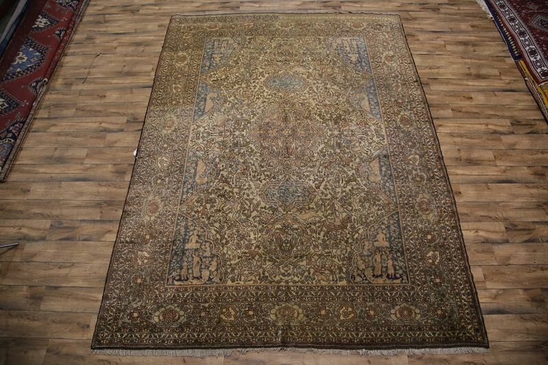 Mercedes Traditional Oushak Turkish Oriental Hand-Knotted Wool Brown/Blue Area Rug