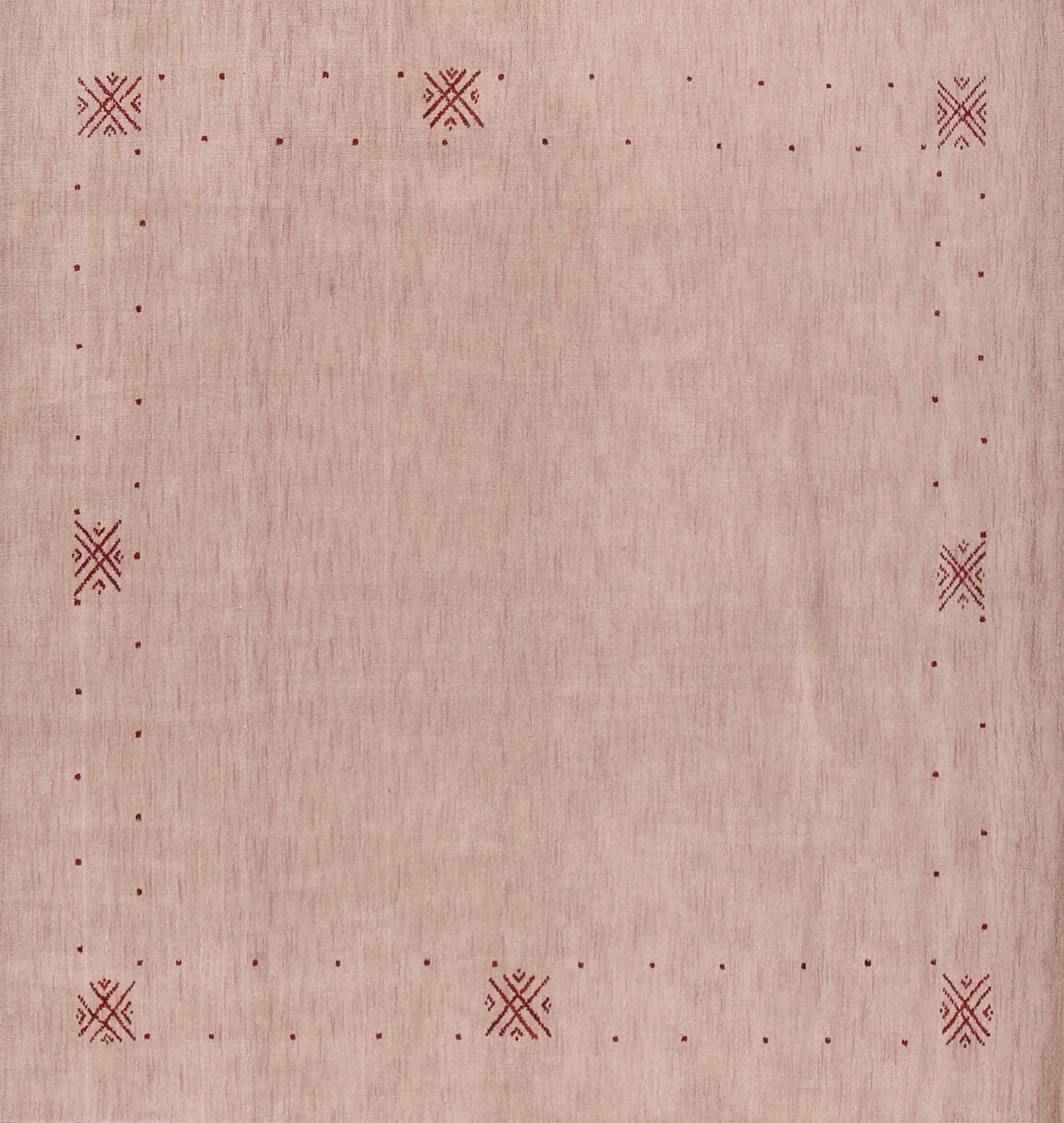 Arrowwood Gabbeh Oriental Hand-Knotted Wool Beige/Ivory Area Rug Rug Size: Square 8'3