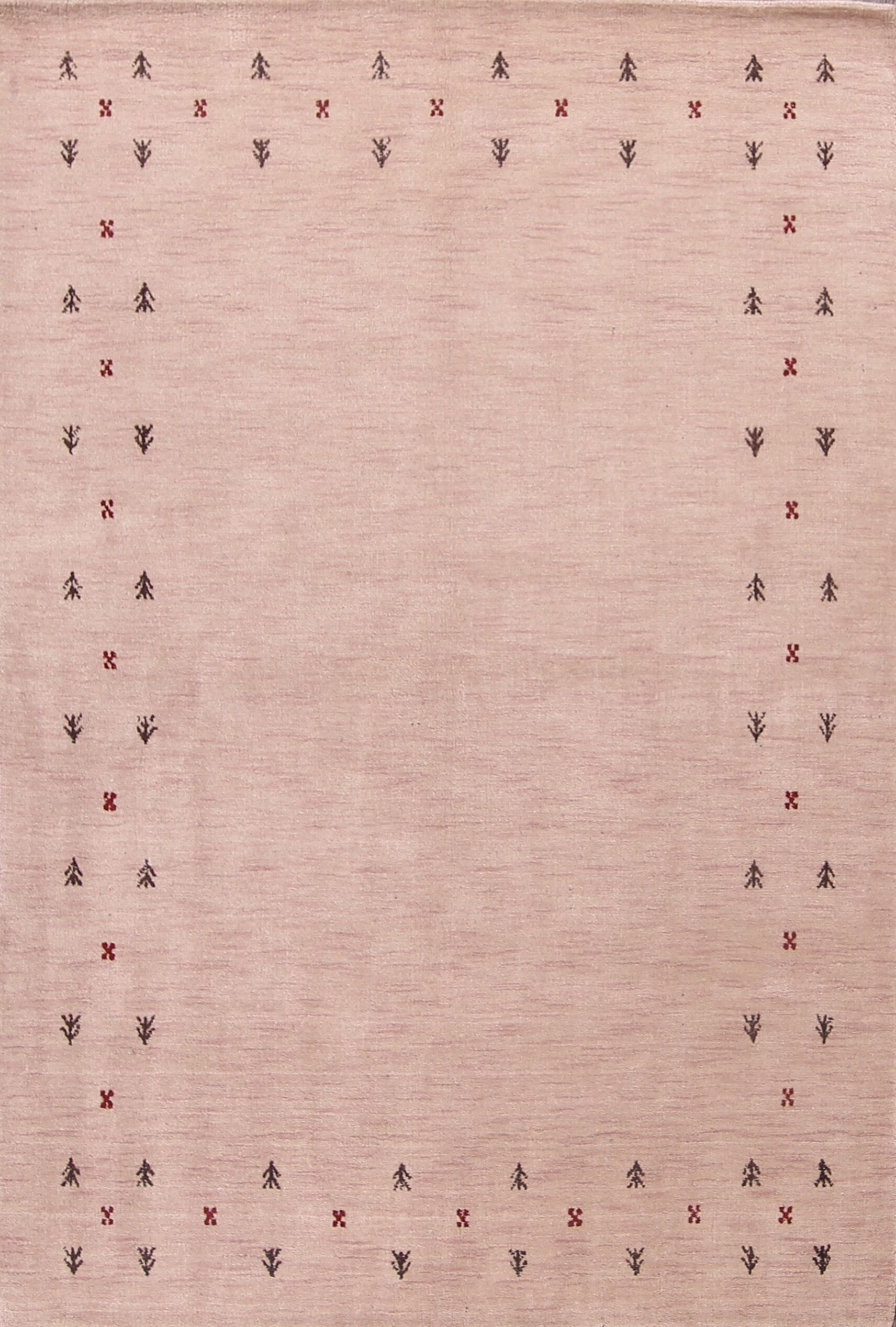 Findlay Gabbeh Oriental Hand-Knotted Wool Beige/Ivory Area Rug