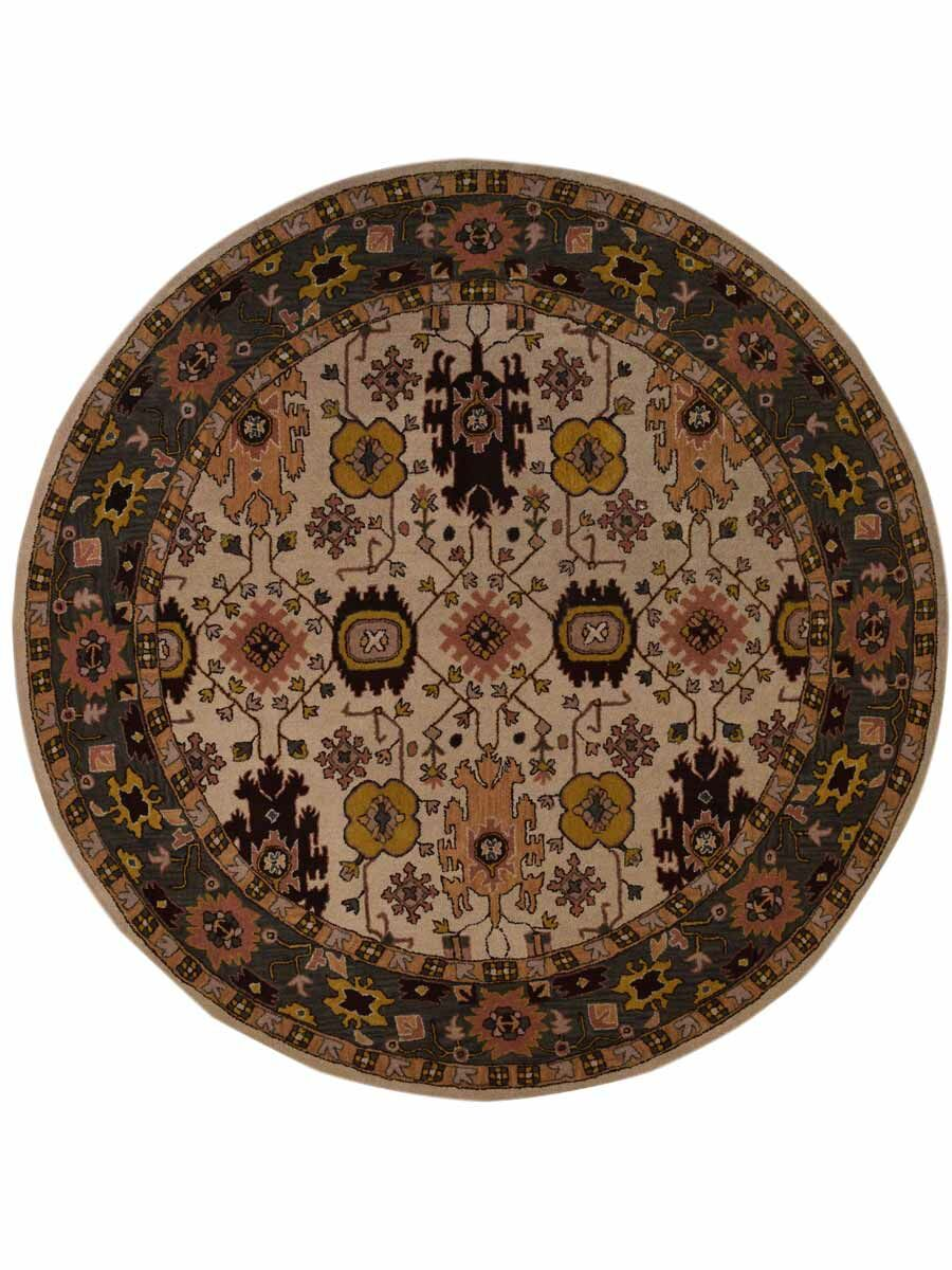 Beehler Oushak Classical Oriental Hand-Tufted Wool Beige/Gray Area Rug