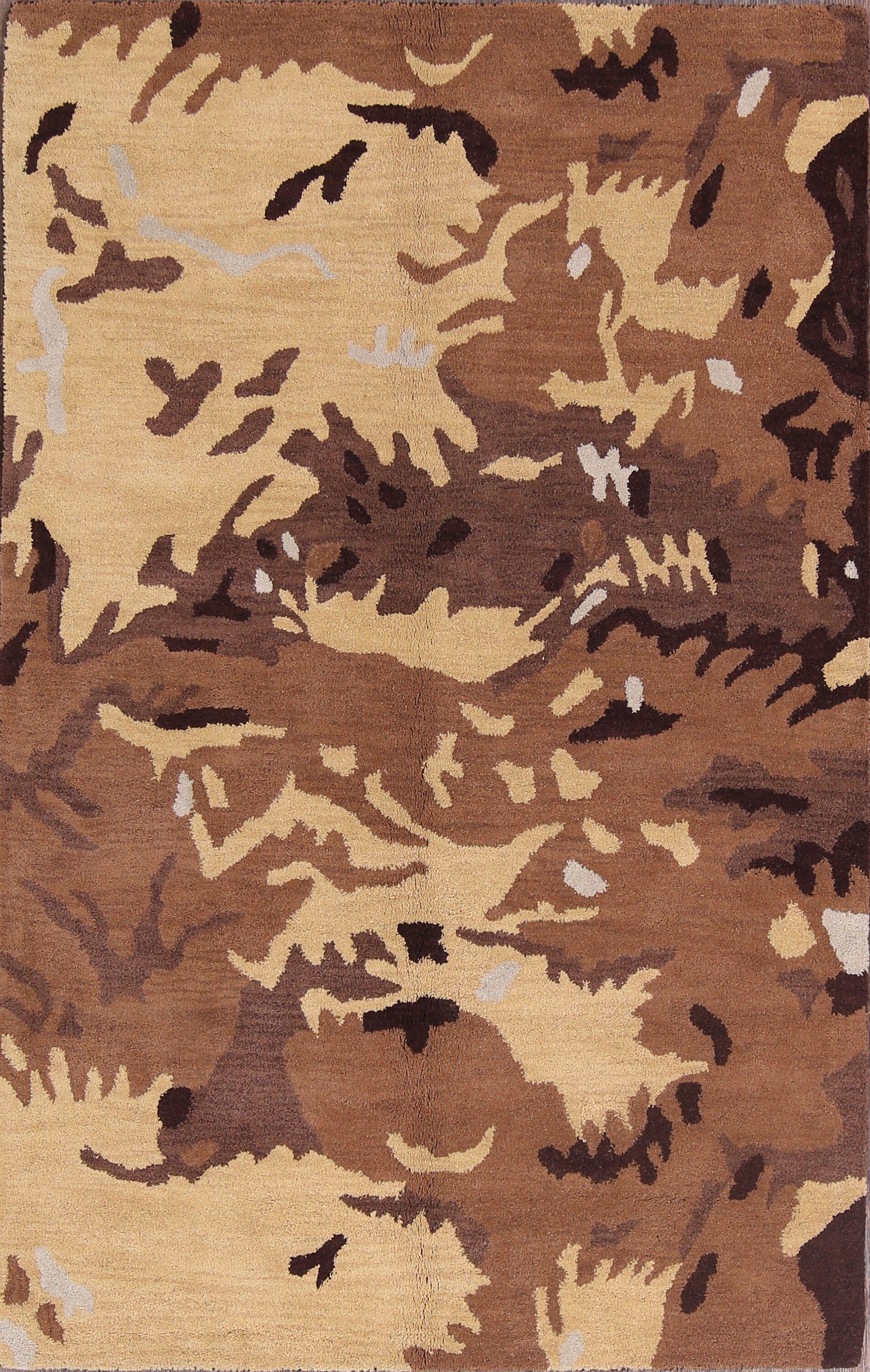 Philipsburg Oushak Agra Oriental Hand-Tufted Wool Red/Burgundy Area Rug