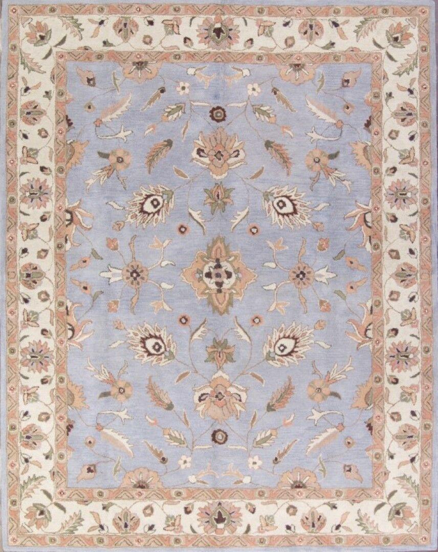 Beery Agra Oriental Hand-Tufted Wool Brown/Blue Area Rug