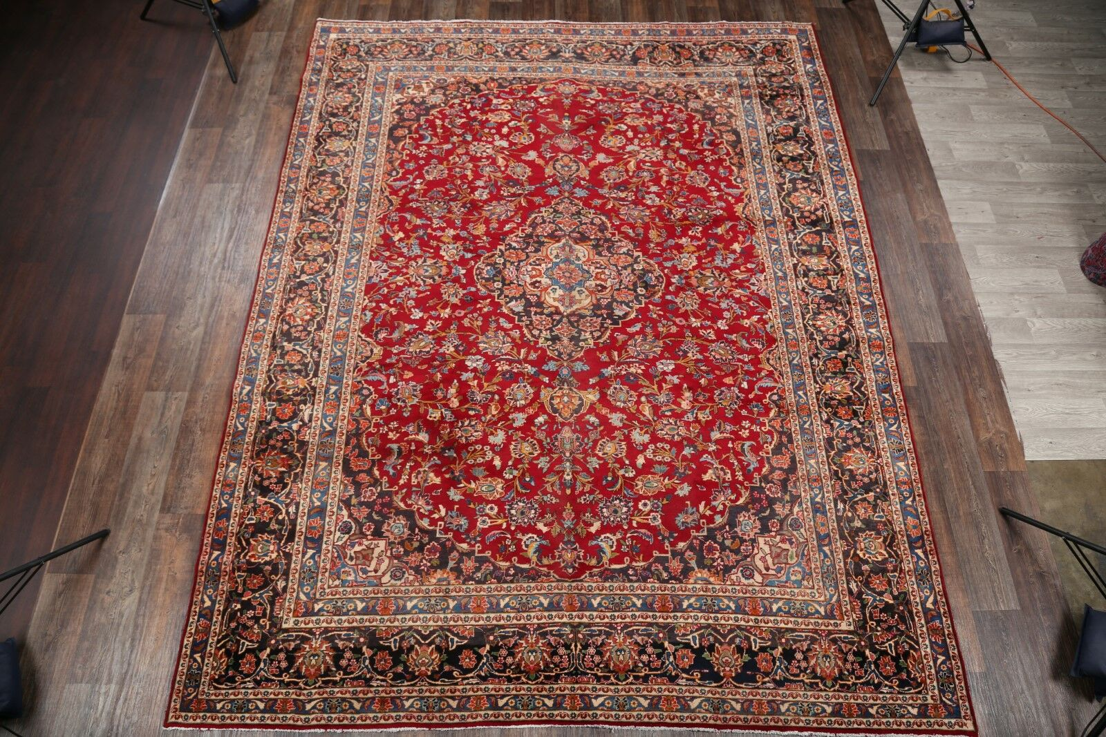 One-of-a-Kind Mcclean Floral Mashad Persian Hand-Knotted 9'7